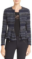 Rebecca Taylor Women's Metallic Tweed Peplum Jacket