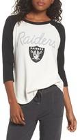 Junk Food Clothing Women's Nfl Oakland Raiders Raglan Tee