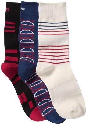 Pair Of Thieves Half Circle Stripes Crew Socks - Pack of 3