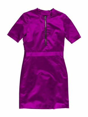 Burberry Crew Neck Mini Dress w/ Tags Purple
