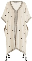 Velvet by Graham & Spencer Aubree embroidered cotton-gauze midi dress