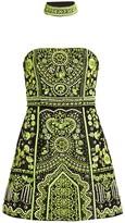 Alice + Olivia Paige Beaded Strapless Mini Dress & Choker