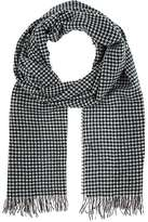 Barneys New York MEN'S HOUNDSTOOTH WOOL-CASHMERE SCARF