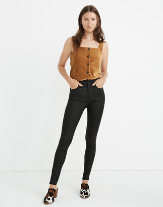 "Madewell Petite 10"" High-Rise Skinny Jeans: Coated Edition"