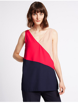 Limited Edition Colour Block Longline Sleeveless Vest Top