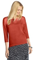 Chico's Whitley Woven-Front Burnt Orange Top