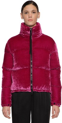 Moncler Rimac Techno Velvet Down Jacket