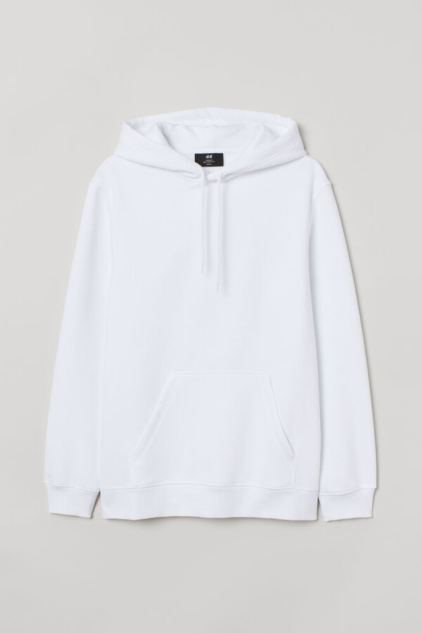 H&M Relaxed-fit Hoodie - White