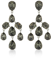 Oscar de la Renta Floating Crystal Clip On Earrings