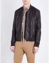 Paul Smith Mens Brown Exposed zip Jacket