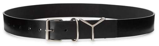 Y/Project Black Leather Belt