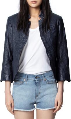 Zadig & Voltaire Rumple Leather Blazer