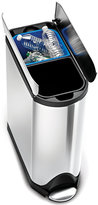 Simplehuman Brushed Stainless Steel 40 Liter Fingerprint Proof Dual Recycler Butterfly Trash Can