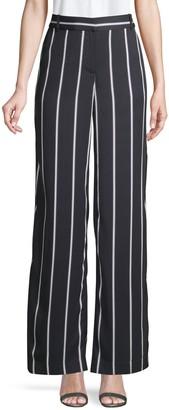 Equipment Striped Wide-Leg Trousers