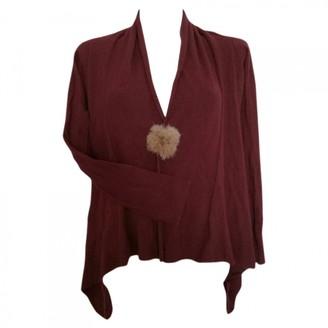 Stefanel Burgundy Wool Knitwear for Women