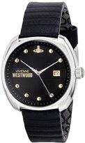 Vivienne Westwood Men's VV080BKBK Bermondsey Stainless Steel Watch with Black Leather Band