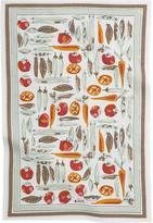 Crate & Barrel Vera Neumann Vegetable Garden Dishtowel