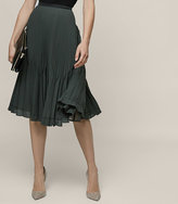 Reiss New Collection Rosie Knife-Pleat Midi Skirt
