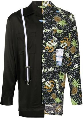 Maison Mihara Yasuhiro Pineapple-Print Contrast Shirt