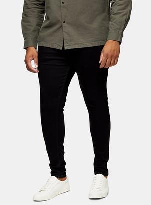 Topman BIG & TALL Black Stretch Skinny Jeans*