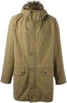 Yves Salomon trim detail hooded coat