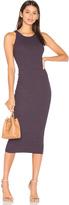 Enza Costa Rib Sheath Midi Dress