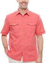 ST. JOHN'S BAY St. John's Bay Short-Sleeve Crosshatch Shirt