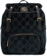 Gucci Gg Cotton Blend Velvet Backpack