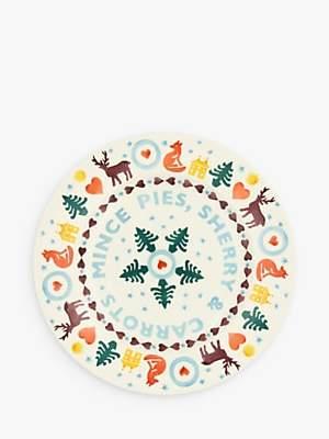 Emma Bridgewater Christmas Brights Mince Pies Plate 22cm, Multi