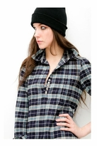 Sauce Western Shirt in Blue Flannel