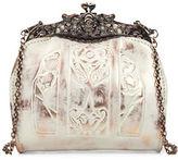 Patricia Nash White Copper Overdye Carmonita Leather Frame Bag