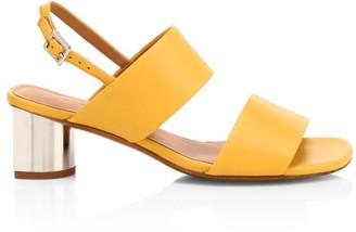 Clergerie Leonie Mirror-Heel Leather Sandal