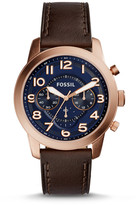 Fossil Pilot 54 Chronograph Dark Brown Leather Watch