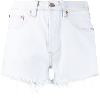 Levi's 501 Frayed Denim Shorts