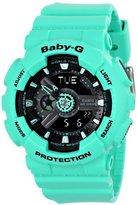 Casio Women's BA-111-3ACR Baby-G Analog-Digital Display Quartz Green Watch