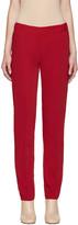 MM6 MAISON MARGIELA Red Fluid Trousers