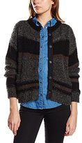 7 For All Mankind Women's Cropped Stripped Cardi Regular Fit Jumper