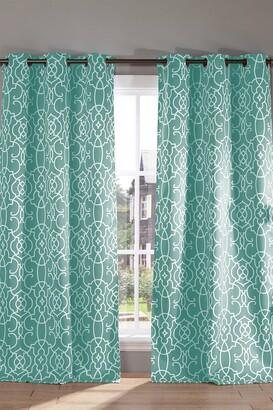 Duck River Textile Kit Geometric Blackout Curtain Set - Ocean