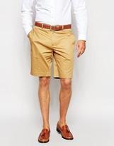 Asos Skinny Smart Shorts In Cotton Sateen