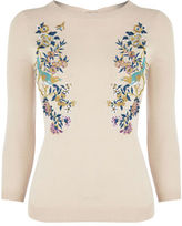 "Oasis V&A EMBROIDERED JUMPER [span class=""variation_color_heading""]- Pale Pink[/span]"
