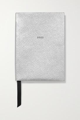 Smythson The Soho 2022 Textured-leather Diary - Silver