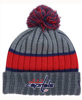 New Era Washington Capitals Stripe Chiller Pom Knit Hat