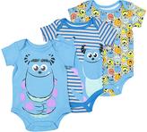 Children's Apparel Network Blue Monsters Inc. Bodysuit Set - Infant