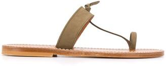 K. Jacques Thong Strap Flat Sandals