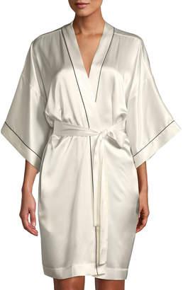 Neiman Marcus Silk Short Robe