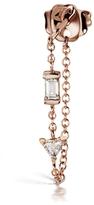 Maria Tash Diamond Chain Wrap Single Earring - Rose Gold