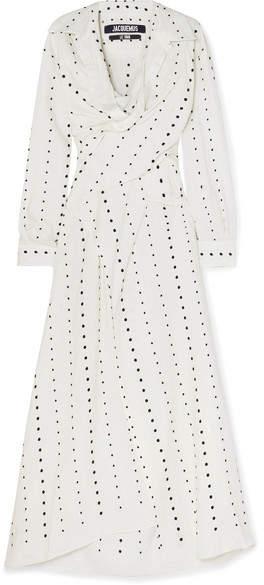 Jacquemus La Tunique Badii Fil Coupé Voile Midi Dress - White