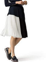 Tommy Hilfiger Colorblock Pleated Skirt