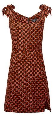 Dorothy Perkins Womens Lola Skye Multi Colour Floral Print Shoulder Bow Dress