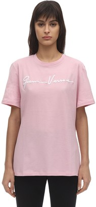 Versace Signature Logo Cotton Jersey T-shirt